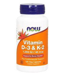 Акция Витамины D-3 и K-2, 120шт, Now Foods, оригинал, США, в наличии