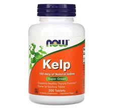 Акция Kelp, 150мкг, 200шт, Now Foods, Йод, витамины США, оригинал