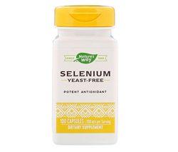 Natures Way, Селен, Selenium, 200mg , 100 капсул, оригинал, США
