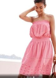 хит сезона летний сарафан платье без бретелек с открытыми плечами NEXT