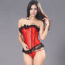 Корсет вечерний красный утягивающий, корректирующий и моделирующий фигуру