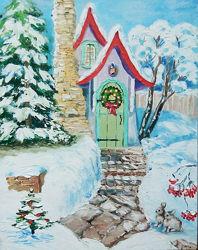 Картина в детскую Зимняя сказка