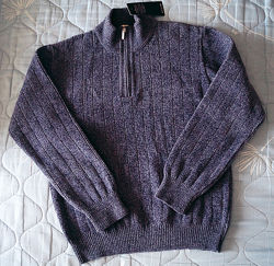 Светр пуловер чоловічий під горло, теплий