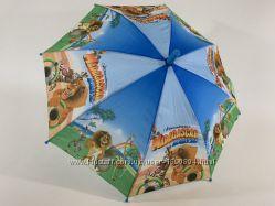 Детский зонтик Мадагаскар, зонт с животными. Парасолька дитяча