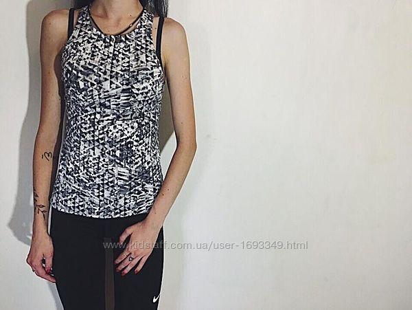Женская спортивная майка Nike Найк Срр оригинал черно-белая