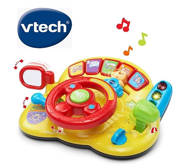 VTech Turn & Learn Driver&trade Кермо Руль Інтерактивна іграшка Интерактивн