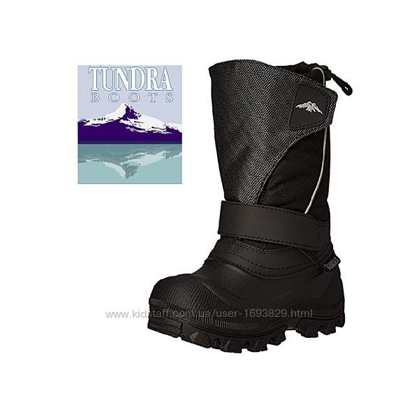 Tundra Kid&acutes Quebec Boot Black/Silver 8US 15cm 25EU Чоботи Сапоги