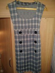 Платье- сарафан, принт клетка, 42-44 размер