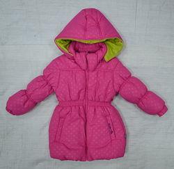 Детская зимняя куртка для девочки розовая/синяя QuadriFoglio, Польша