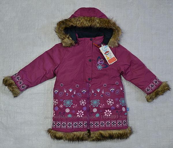 Детское зимнее пальто для девочки FOLK Quadrifoglio, Польша