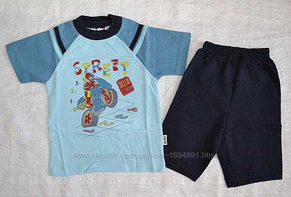 Качественная летняя хлопковая пижама street 3 расцветки oztas, турция