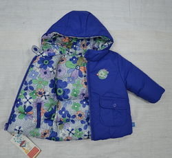 Зимняя куртка для девочки 2-сторонняя розовая/голубая QuadriFoglio, Польша