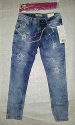 Детские джинсы для девочки Звезды Seagull, Венгрия
