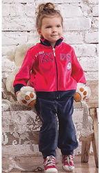 Детский велюровый костюм для девочки Lovely KIDS р. 74-104 см Nicol, Польша
