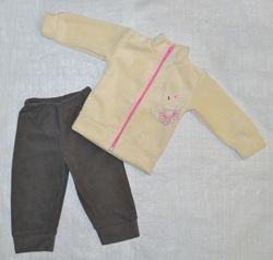 Детский флисовый костюм Слоник для девочки р. 74-98 см Украина