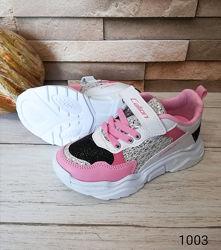Кроссовки на девочку, розовые, размеры 31-35