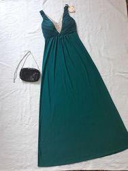 Платье вечернее lucas&emma, платье вечернее с камнями, вечірня сукня s-m