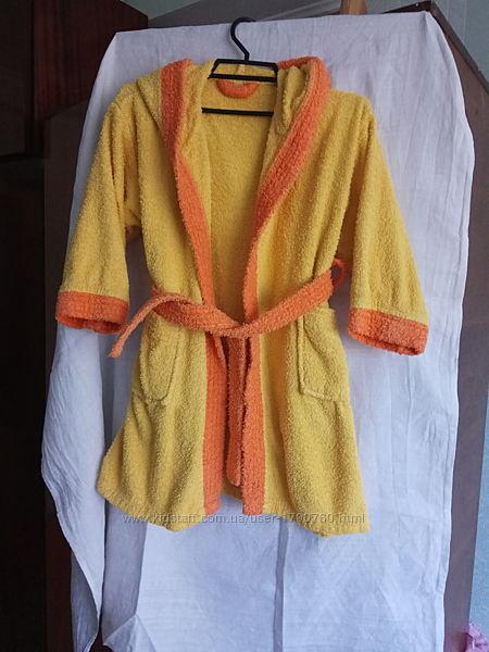 Тёплый махровый халат 6-9 лет