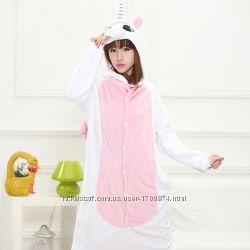 Кигуруми пижама Единорог с  розовыми крыльями