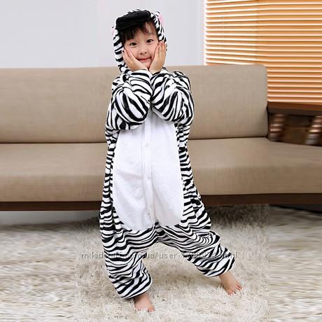 Костюм кигуруми пижама детская зебра