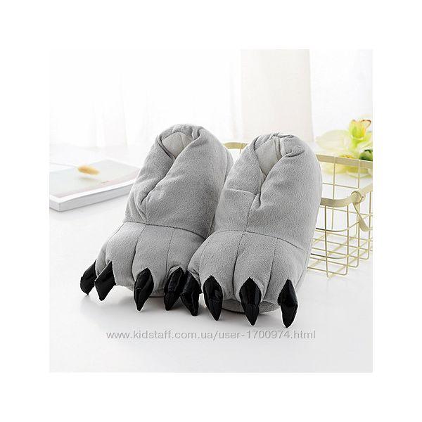 Тапки лапки коготки плюшевые / Тапочки игрушки для кигуруми с коготками