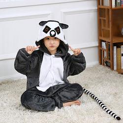 Кигуруми лемур / пижама кигуруми лемуркючик/ костю  кигуруми лемур