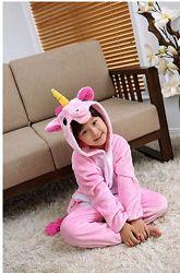 Кигуруми единорог розовый/ пижама единорог / кігурумі єдиноріг рожевий
