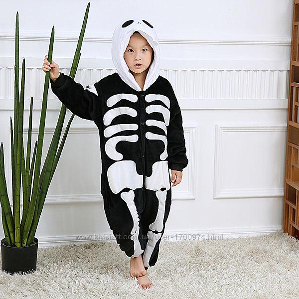 Кигуруми скелет / пижама кигуруми скелет / костюм скелет / кігурумі скелет