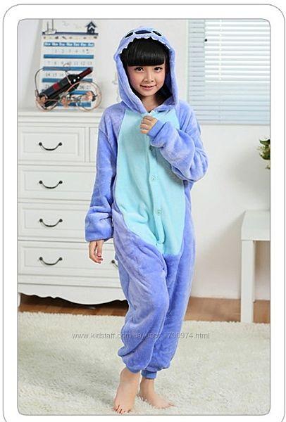 Кигуруми стичь / пижама кигуруми стич / кигуруми синий стич / кігурумі стіч