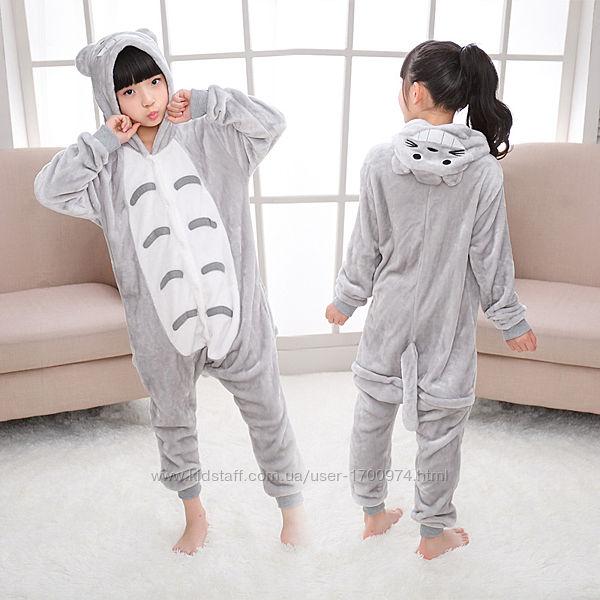 Кигуруми тоторо / пижама тоторо / кігурумі тоторо / пижама серый котик