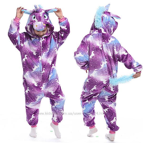 Кигуруми единорог / кігурумі єдиноріг / пижама кигуруми лунный единорог